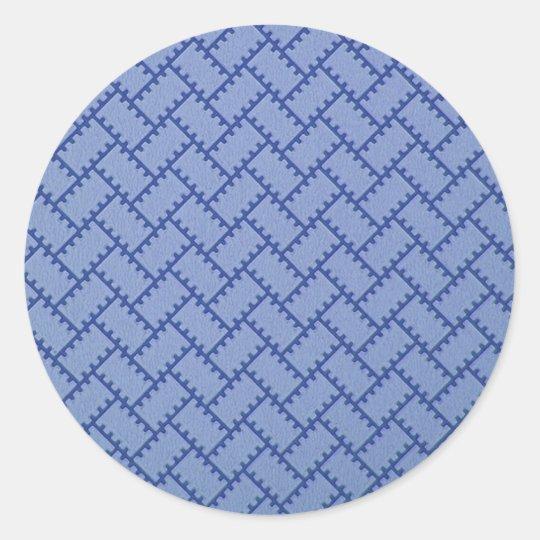 A Herringbone Pattern 4 Classic Round Sticker