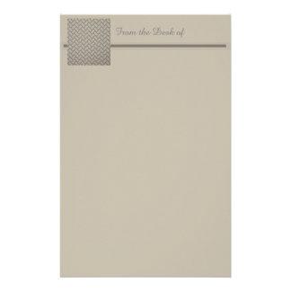 A Herringbone Pattern Customized Stationery