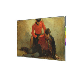 A Highlander, Black Watch attending a General of H Gallery Wrap Canvas