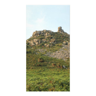 A Hill with Rocks Custom Photo Card