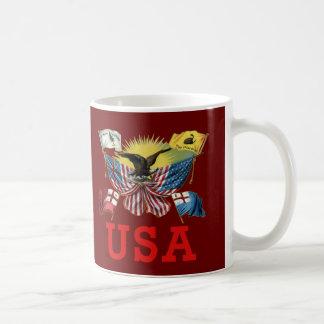 A History of American Flags on a Tshirt Mug