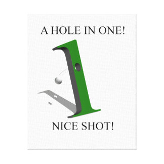 A Hole In One Golf Ball Canvas Prints