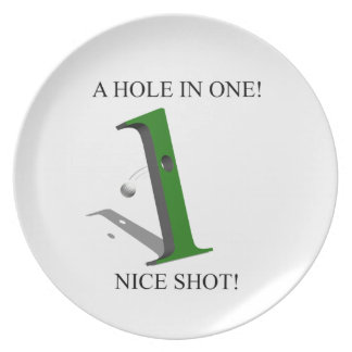 A Hole In One Golf Ball Plate