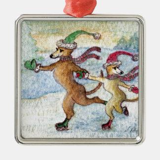 A Holiday tradition - skating Christmas Ornament