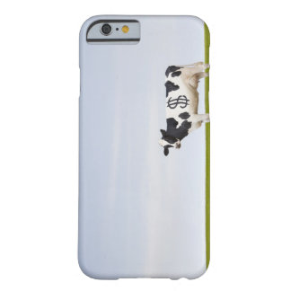 A Holstein Dairy cow with spots in the shape of Barely There iPhone 6 Case