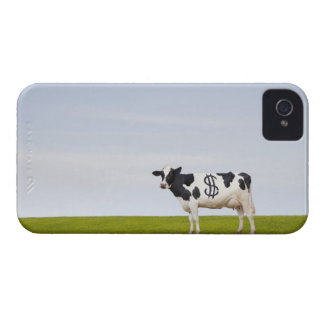 A Holstein Dairy cow with spots in the shape of iPhone 4 Case