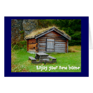 A home in the mountains greeting card