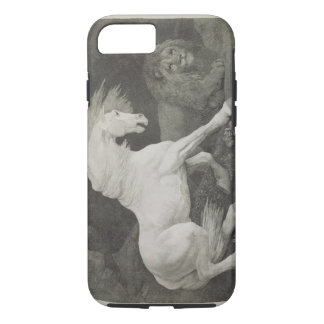 A Horse Affrighted by a Lion, engraved by the arti iPhone 8/7 Case