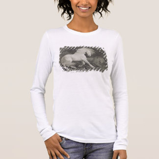 A Horse Affrighted by a Lion, engraved by the arti Long Sleeve T-Shirt
