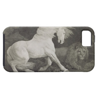 A Horse Affrighted by a Lion, engraved by the arti Tough iPhone 5 Case