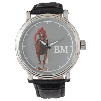 a horse & custom initials watch