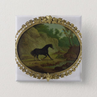 A Horse Frightened by a Snake, 1792 (oil on canvas 15 Cm Square Badge
