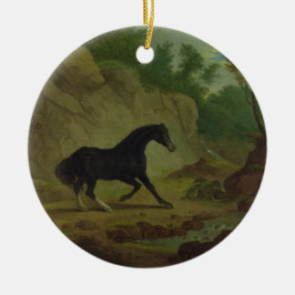 A Horse Frightened by a Snake, 1792 (oil on canvas Christmas Ornament