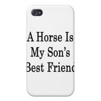 A Horse Is My Son's Best Friend iPhone 4 Covers