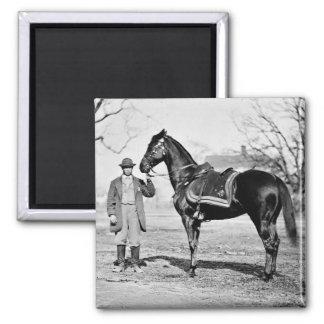 A Horse Named Cincinnati, 1865 Square Magnet