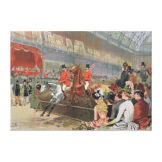 A Horse Race, 1886 Canvas Print
