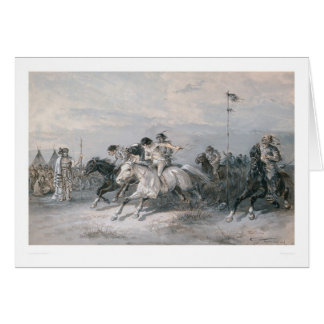 A Horse Race in a Sioux Indian Camp (0603A) Card