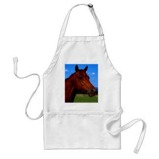 A horse standing proud standard apron
