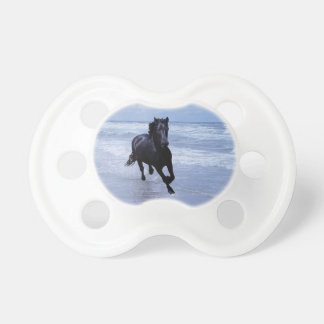 A horse wild and free baby pacifiers