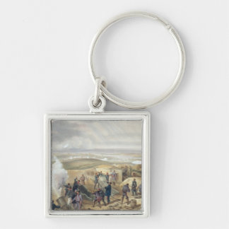 A Hot Day in the Batteries, plate from 'The Seat o Silver-Colored Square Key Ring