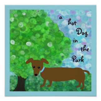 a Hot Dog in the Park Poster
