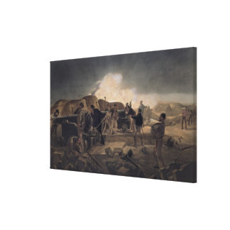 A Hot Night in the Batteries, plate from 'The Seat Canvas Print