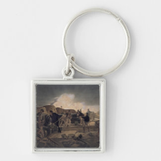 A Hot Night in the Batteries, plate from 'The Seat Silver-Colored Square Key Ring