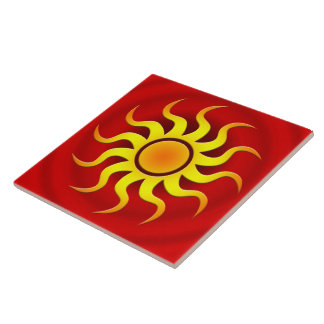 A HOT SOUTHWESTERN SUN LARGE SQUARE TILE