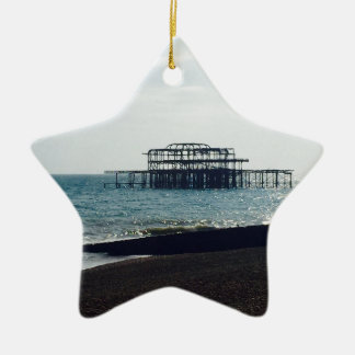 A Hot Summers Day - Brighton West Pier Christmas Ornament