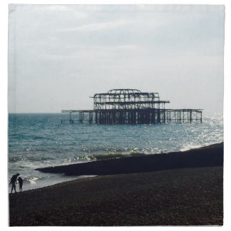 A Hot Summers Day - Brighton West Pier Napkin
