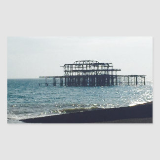 A Hot Summers Day - Brighton West Pier Rectangular Sticker