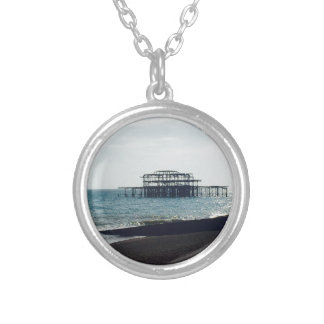 A Hot Summers Day - Brighton West Pier Silver Plated Necklace