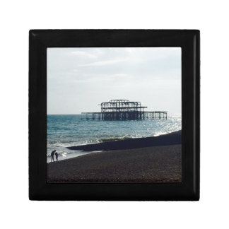 A Hot Summers Day - Brighton West Pier Small Square Gift Box