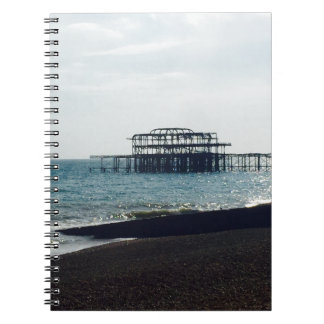 A Hot Summers Day - Brighton West Pier Spiral Note Books