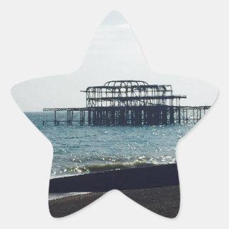 A Hot Summers Day - Brighton West Pier Star Sticker