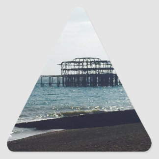 A Hot Summers Day - Brighton West Pier Triangle Sticker