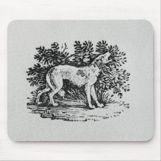 A Hound from 'History of Quadrupeds' Mouse Mat