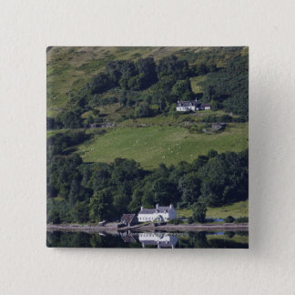 A House Along The Water 15 Cm Square Badge