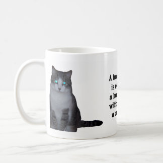 A House is Not a Home Without a Cat Classic White Coffee Mug