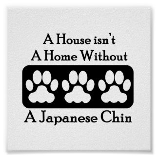 A House Isn't A Home Without A Japanese Chin Poster