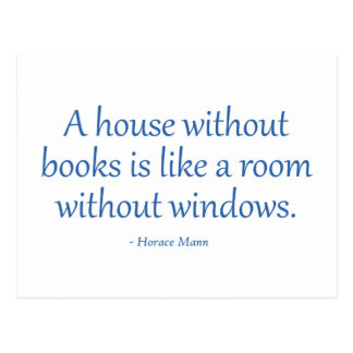 A House Without Books Postcard