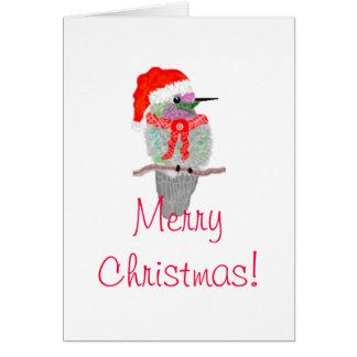A Hummingbird Christmas Greeting Card