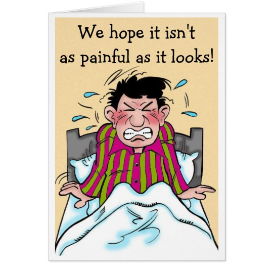 A Humourous Get Well Card Patient