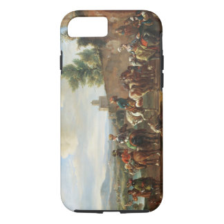 A Hunting Party by a Country House (oil on canvas) iPhone 8/7 Case