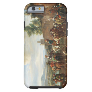 A Hunting Party by a Country House (oil on canvas) Tough iPhone 6 Case