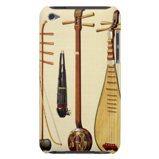 A huqin and bow, a sheng, a sanxian and a pipa, Ch Barely There iPod Cases