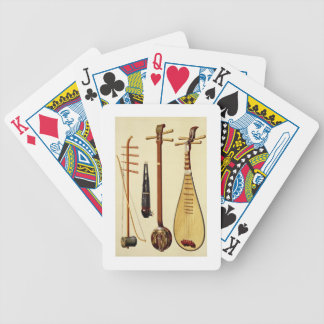 A huqin and bow, a sheng, a sanxian and a pipa, Ch Bicycle Playing Cards