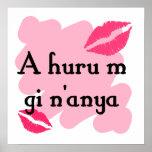 A huru m gi n'anya - Igbo I love you Print