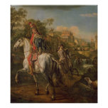 A Hussar on horseback, 1773 Poster