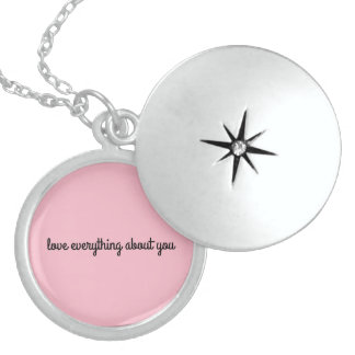 a 'i love you' necklace